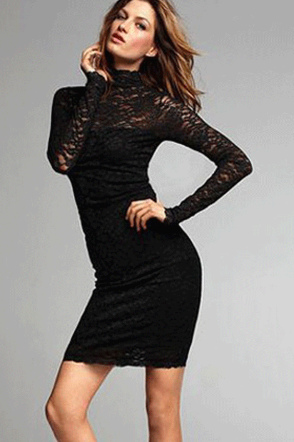 Lace Black dress long sleeve pictures forecasting dress in everyday in 2019