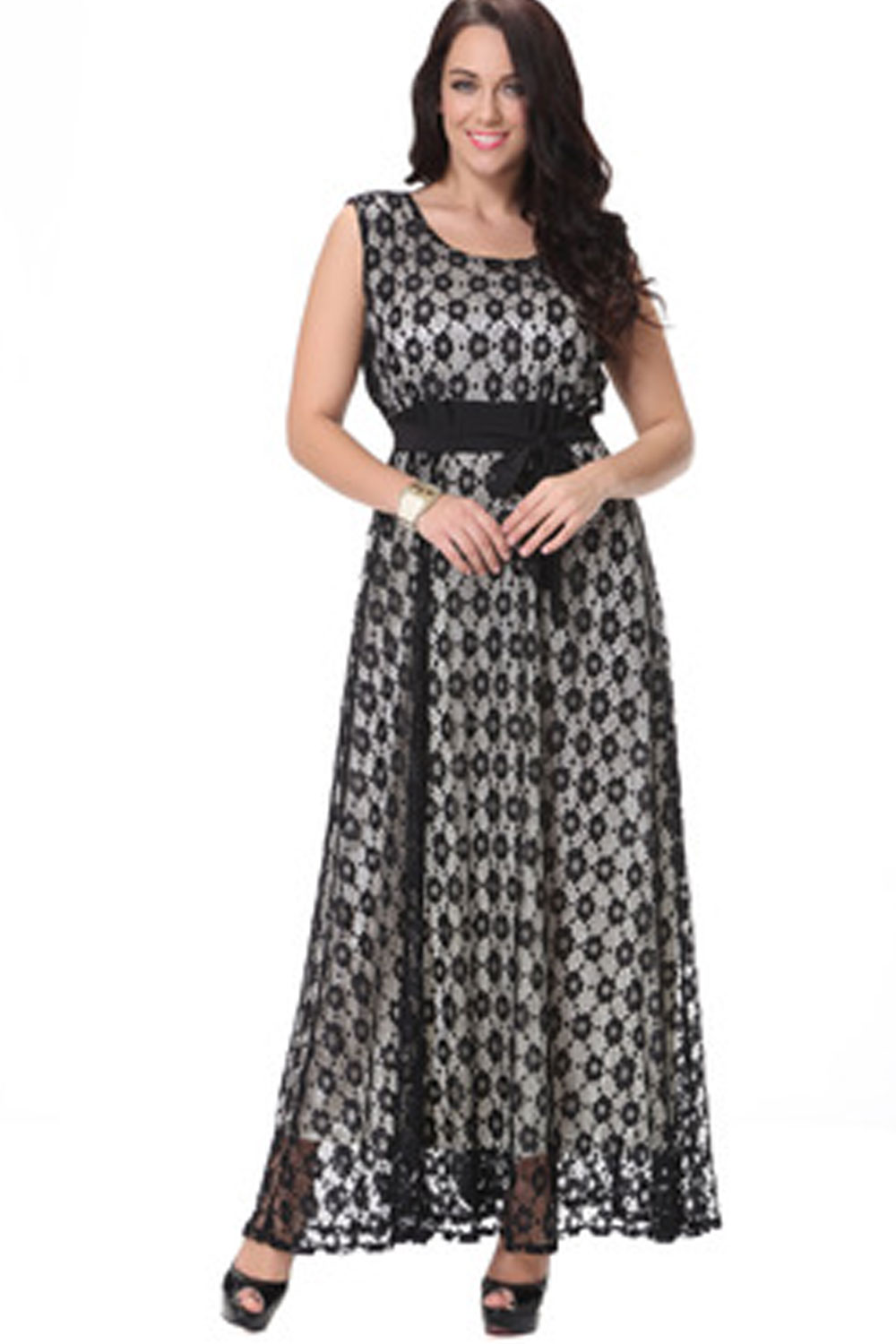 UNOMATCH WOMEN LACE DESIGNED PLUS SIZE LONG PARTY SPECIAL OCCASION ...