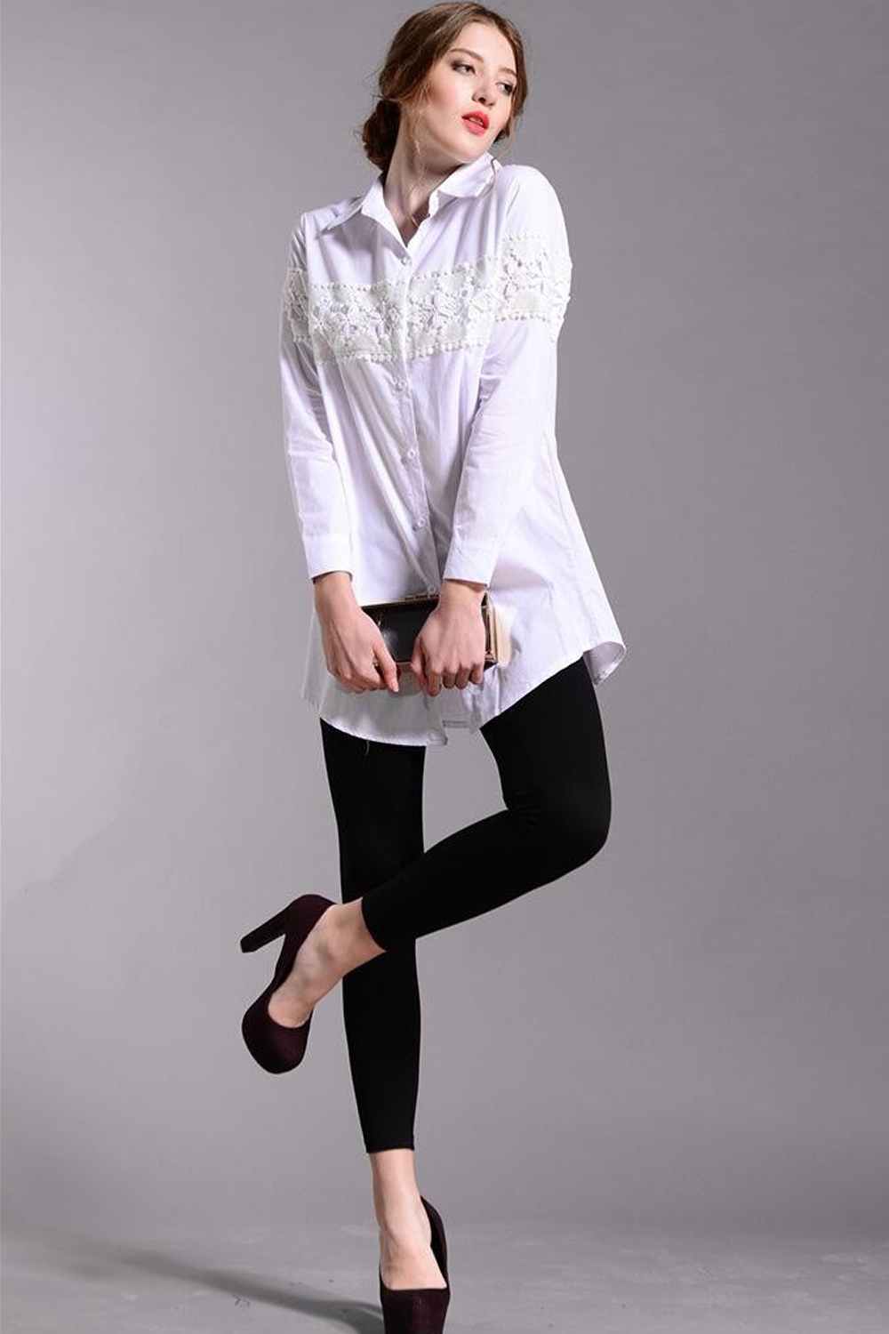 69a6dd917c UNOMATCH WOMEN LONG SLEEVES PLUS SIZE SHIRT AND BLOUSE WHITE ...