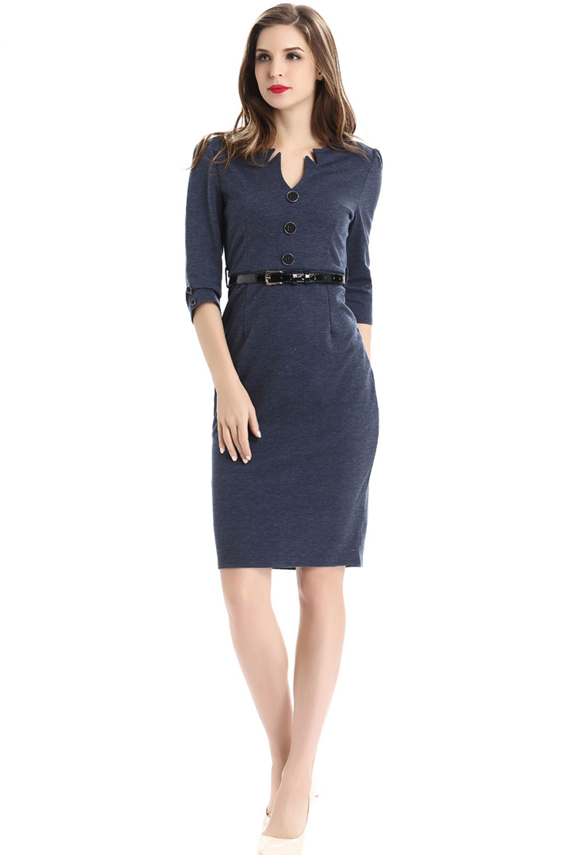 82c86dba0 UNOMATCH WOMEN SUMMER AMERICAN FASHION PENCIL SKIRT STYLE DRESS NAVY ...