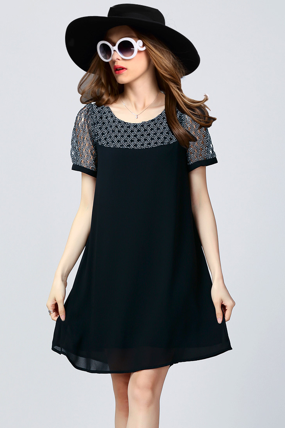 99e487a3469 UNOMATCH WOMEN SPECIAL OCCASION WEAR A-LINE LONG SHIRT AND BLOUSE BLACK