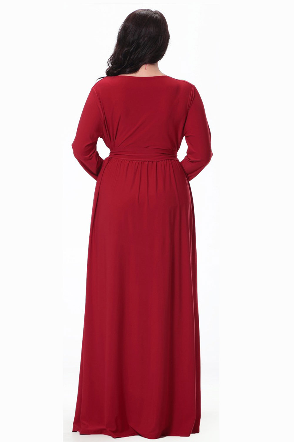 8f810db01bd UNOMATCH WOMEN PLUS SIZE PLEATED MAXI GOWN PARTY DRESS RED ...