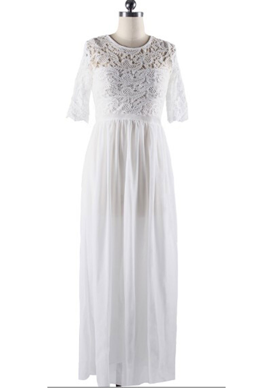 Unomatch women winter party dresses lace designed long for Winter wedding party dresses