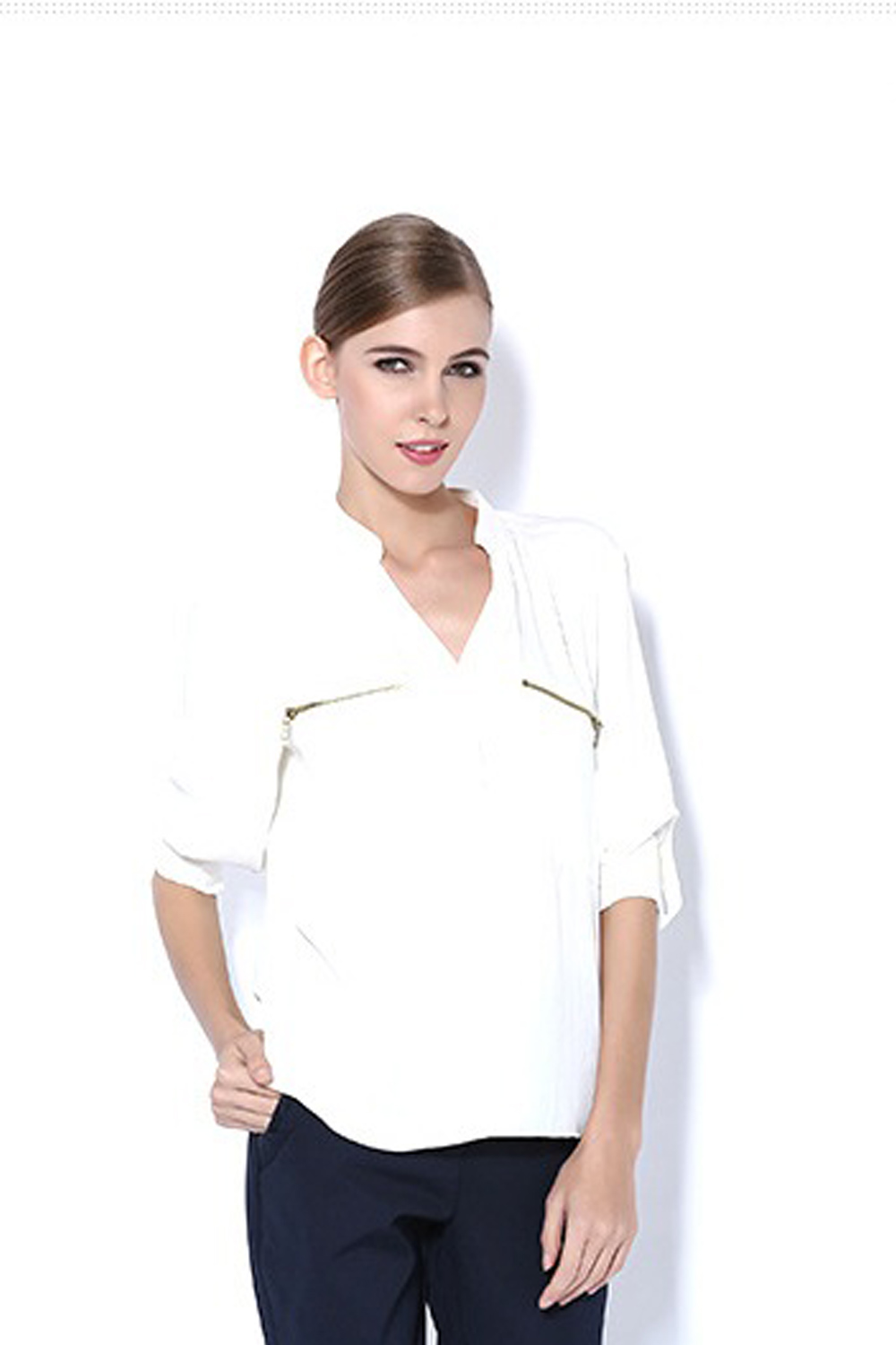 Women's Long Sleeve Silk Blouses