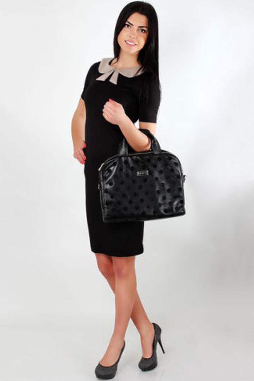 b10a70e2c7e WOMEN SLIM CASUAL SLIM PETER PAN COLLAR DRESS GREY WITH BLACK ...